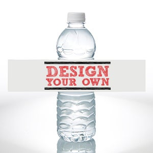 Design Your Own Personalized Water Bottle Labels - Set of 24 - 16231