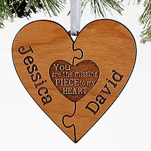 personalized couples christmas ornaments perfect match 16240