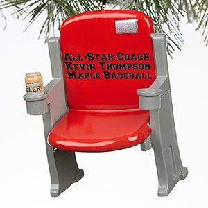 Personalized Sports Stadium Seat Christmas Ornaments - 16246