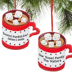 Personalized Hot Chocolate & Marshmallows Christmas Ornaments - 16251