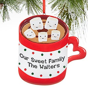 hot chocolate mug clipart. personalized hot chocolate \u0026 marshmallows christmas ornaments - 16251 mug clipart