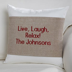 Personalized Throw Pillow with Wrap - Custom Text - 16257