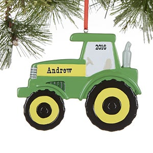Personalized Tractor Christmas Ornament - 16270