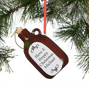Personalized Christmas Ornaments - Beer Growler - 16273