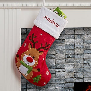 Personalized Christmas Stockings Reindeer Christmas Corner
