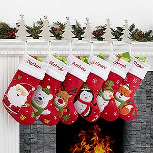 Personalized Christmas Stockings - Santa Claus Lane