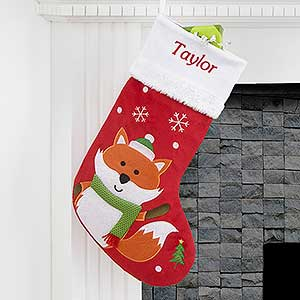 Personalized Christmas Stockings Fox Christmas Gifts