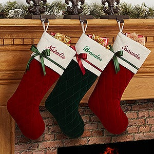Personalized Quilted Christmas Stockings - Winter Classic