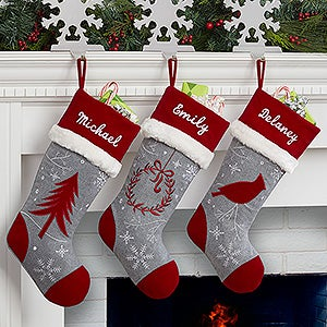 Personalized Christmas Stocking - Wintertime Wishes