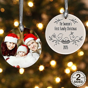 Personalized Christmas Famliy Ornament - Our First Family Christmas - 16295
