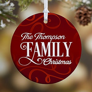 Personalized Family Photo Ornament - Family Christmas - 1-Sided ...