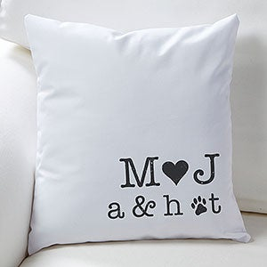 Personalized Family Throw Pillow : Personalized Decorative Throw Pillows - Family Initials - Ladies Gifts
