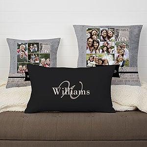 Personalized Photo Throw Pillow - Family Memories - 16301