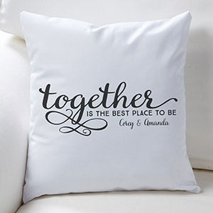 Personalized Wedding Gift Pillow Cases for Bride and Groom