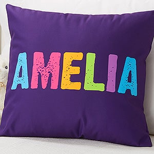 Personalized Throw Pillows For Kids - Name - 16306