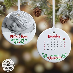 personalized photo baby christmas ornament babys 1st christmas calendar 16322