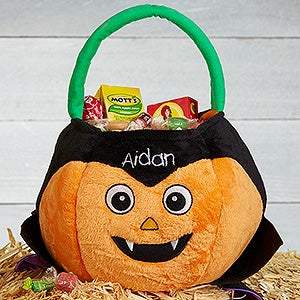 Personalized Plush Halloween Treat Bag - Dracula - 16323