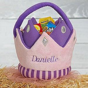 Personalized Plush Treat Bag - Princess Crown - 16326