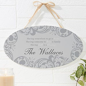 Personalized Family Blessing Wall Sign - 16345
