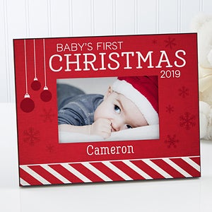 Personalized Christmas Picture Frame - Baby's 1st Christmas - 16366