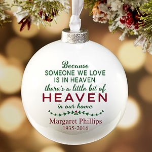 Personalized Memorial Christmas Ornament - Heaven In Our Home