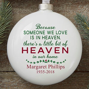 personalized memorial christmas ornament heaven in our home 16368 - Christmas Decorations In Memory Of A Loved One