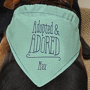 Personalized Dog Bandana - I'm Adopted - 16393