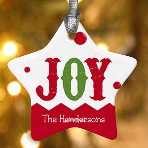 Personalized Photo Christmas Ornaments - Jolly Jester Star - 16398