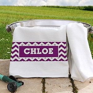Personalized Pet Towel - Chevron - 16410