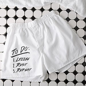 Personalized Mens Boxer Shorts - To Do List - 16425