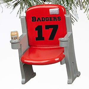 Personalized Sports Stadium Seat Ornaments - 16439