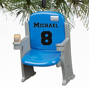 Personalized Sports Stadium Seat Ornaments - 16439