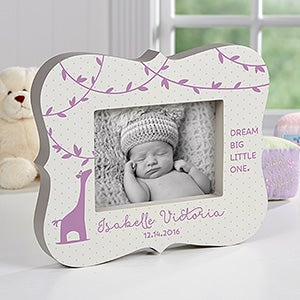 Personalized Baby Picture Frames - Baby Zoo - 5x7 - 16444