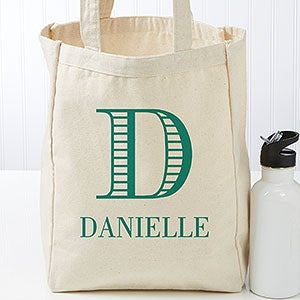 Personalized Petite Tote Bag - Striped Monogram - 16454