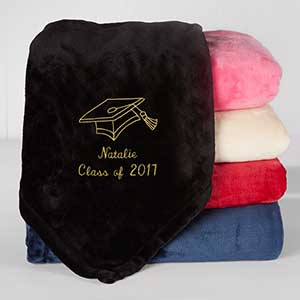 Personalized Graduation Fleece Blanket - The Graduate - 16458