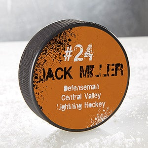 Personalized Hockey Pucks - Official Size - You Name It - 16483