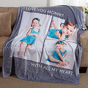 photo personalized fleece blankets picture perfect 3 photos