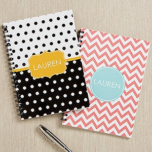 Personalized Mini Notebook Set - Preppy Chic - 16495
