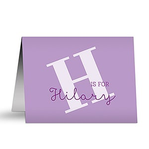 Personalized Kids Note Card Sets - Alphabet Fun - 16499