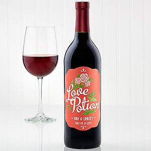 Personalized Valentine's Day Wine Bottle Labels - Love Potion - 16506