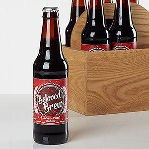 Personalized Beer Bottle Labels - Valentine's Day - Beloved Brew - 16507