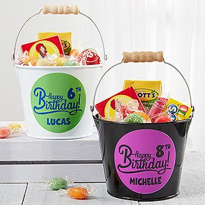 Personalized Birthday Mini Metal Bucket - Birthday Treats - 16512