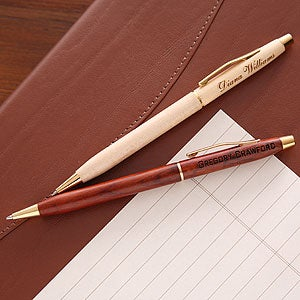 Engraved Wooden Executive Pen - 1652