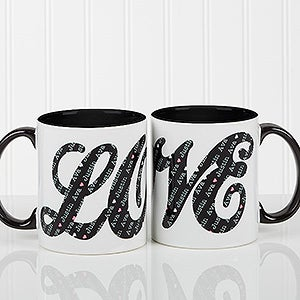 LOVE Sweethearts Personalized Coffee Mug - 16548