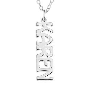 Personalized Sterline Silver Name Necklace - 16560D