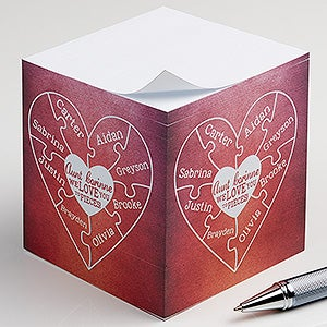 Personalized Paper Cube Notepads - We Love You To Pieces - 16561