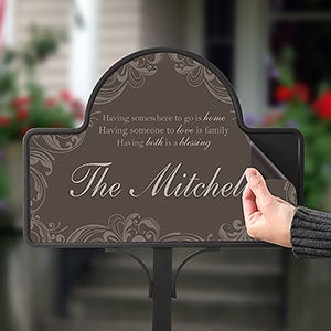 Personalized Yard Stake - Family Blessings - 16569