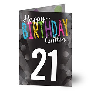 Personalized Greeting Cards - Bold Birthday - 16570