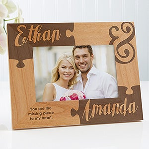 Personalized Couples Picture Frames Missing Piece To My Heart 4x6