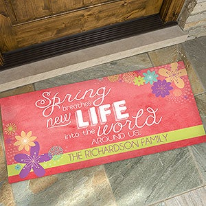 Personalized Spring Flowers Doormats - 16591